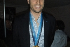 Francois Louis Tremblay With His Gold Medal