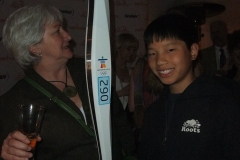 Guests with 2008 Olympian Ben Rutledges Torch