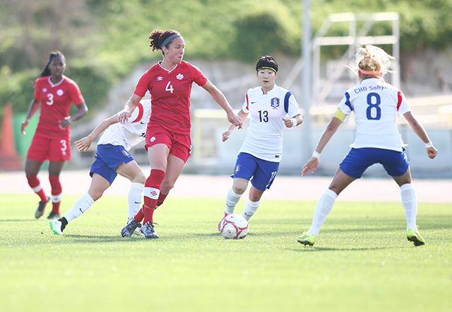 2015 Cyprus Women's Cup Canada v Korea Republic 6 March 2015, Larnaka, CYP GSZ Stadium ©CanadaSoccer / by Ville Vuorinen Carmelina Moscato