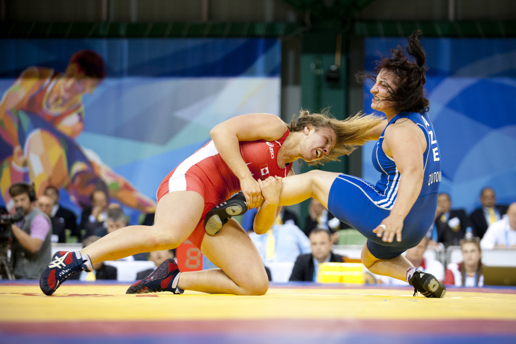 KAZAN, RUSSIA - 13-07-13: Women's wrestling. Summer Universiade 2013, Kazan, Russia (PHOTO: Matt Zambonin/Freestyle Photography)