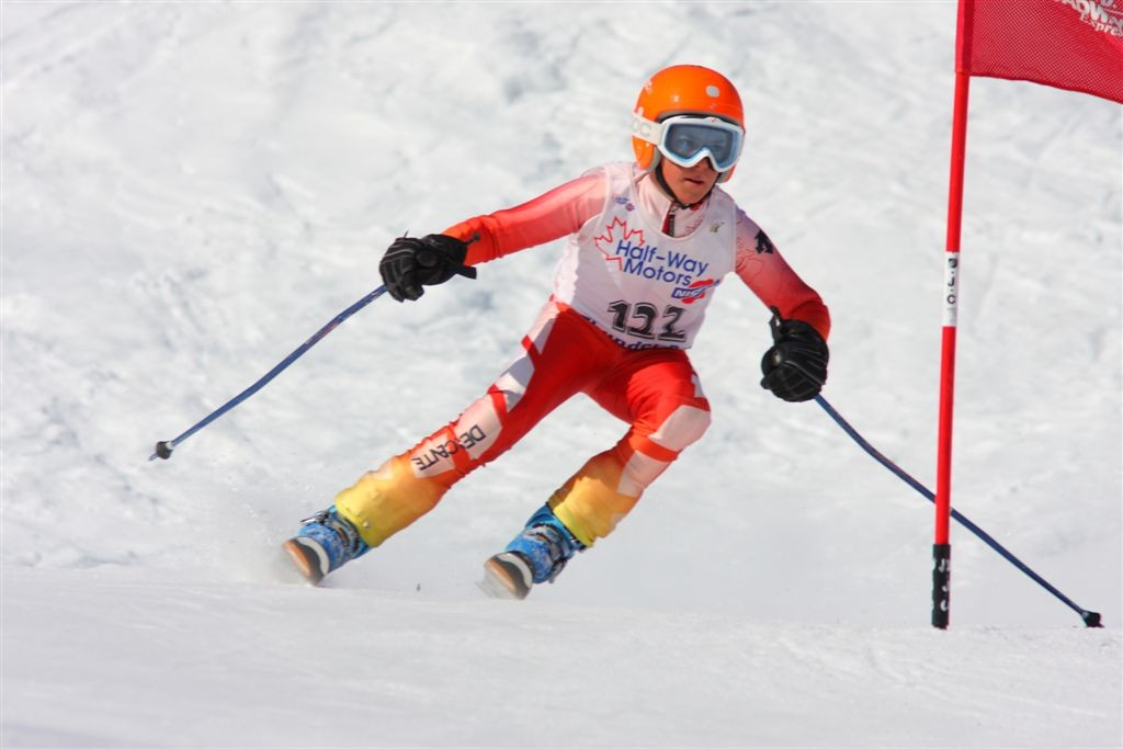 Mac Marcoux- Para-Alpine -competing age 10