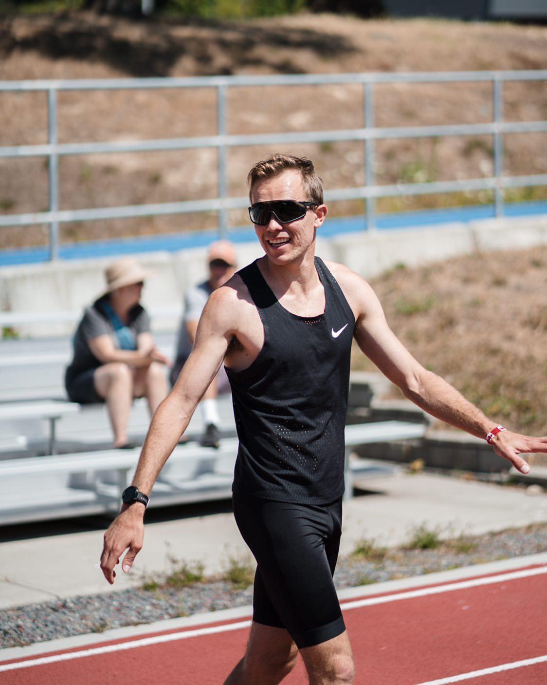Nate Riech - Pre-1500m Time Trial